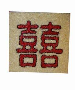 Tablou Feng Shui cu Simbolul Dublei Fericiri