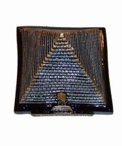 Piramida aurie - argintie din ceramica