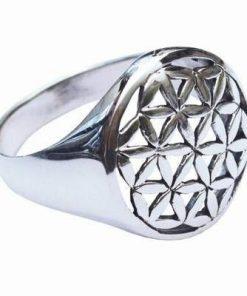 Inel din argint  925 cu floarea vietii
