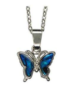 Fluturele Eliberarii de traume din metal nobil, cu scoica