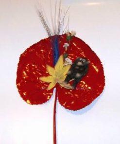 Aranjament floral Feng Shui cu maimuta - noroc