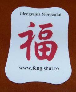 Magnet Feng Shui cu ideograma Norocului