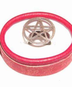 Inel reglabil, din metal nobil, cu pentagrama