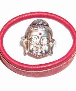 Inel cu Buddha, din metal nobil