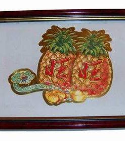 Tablou Feng Shui cu ananas, Ru Yi si pepite