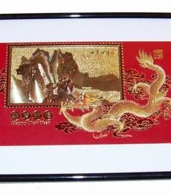 Tablou Feng Shui cu Dragonul Cerului si muntele auriu