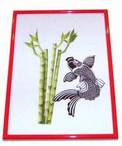 Tablou cu peste si bambus