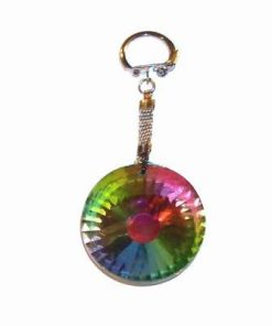 Breloc cu piatra dorintei multicolora