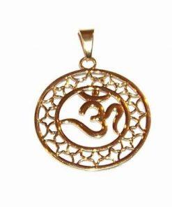 Pandantiv placat cu aur - simbolul Tao/OM