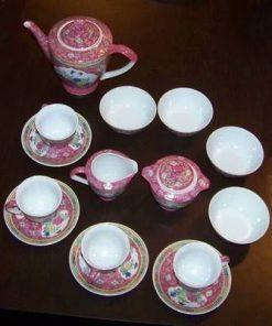Set de ceai/cafea din portelan cu simbolul sanatatii