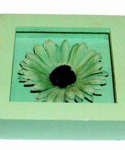 Tablou din lemn cu floarea norocului de bani