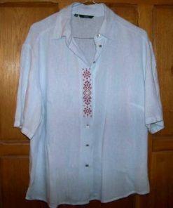 Bluza din bumbac cu elemente traditionale, cusute