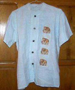 Bluza din bumbac, cu 4 elefanti