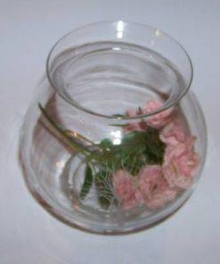 Bol din sticla cu floarea pasiunii