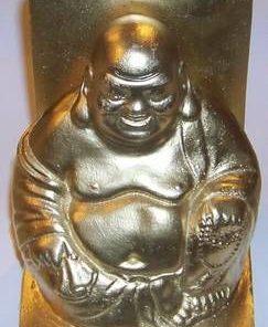 Statuie aurie cu Buddha razand