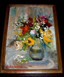 Tablou - Vaza cu flori, pictat manual