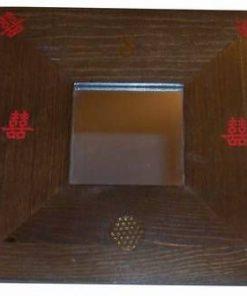 Oglinda Feng Shui cu simbolul Dublei Fericiri