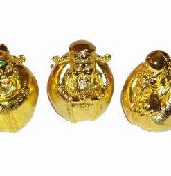 Set de 3 pusculite aurii - Fuk Luk Sau