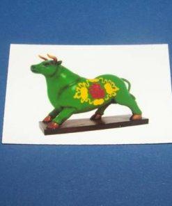 Bivolul verde cu simboluri de noroc - card 1+1gratuit
