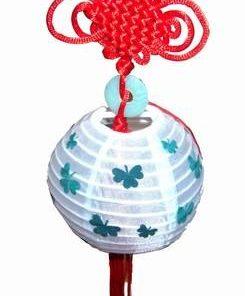 Minilampadar Feng Shui cu Nod Mistic si moneda - alb