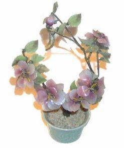 Copacel cu flori de prun, din cristale, in ghiveci