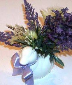 Aranjament floral cu rata mandarina