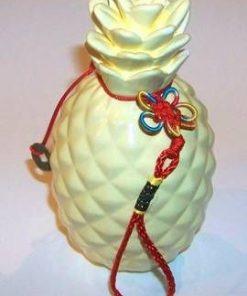 Ananas din ceramica cu Nod mistic si monede
