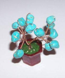 Copacel Feng Shui cu cristale de turcoaz