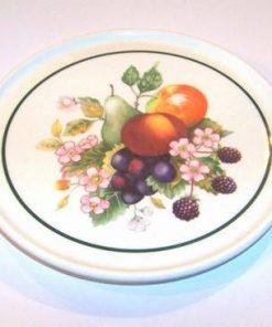 Farfurie cu flori si fructe pentru bucatarie