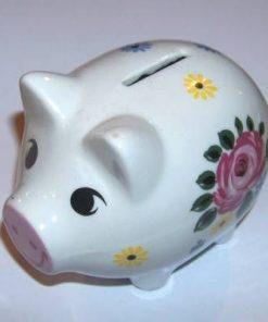 Porcul norocului de bani din portelan