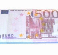 Blocknotes cu model de bancnote de 500 de Euro