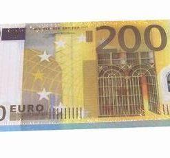 Blocknotes cu model de bancnote de 200 de Euro