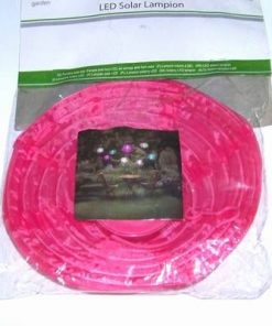 Lampadar Feng Shui cu celula solara si LED - roz
