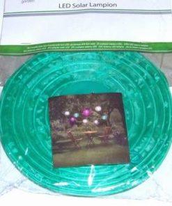 Lampadar Feng Shui cu celula solara si LED - verde