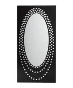Oglinda Feng Shui in rama din metal neagra