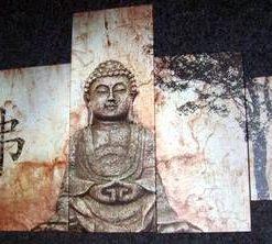 Tablou cu Buddha, format din 5 parti