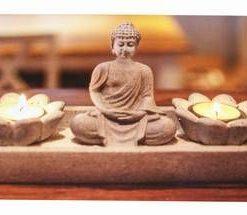 Aranjament Feng Shui cu Buddha al Medicinei si Lotus