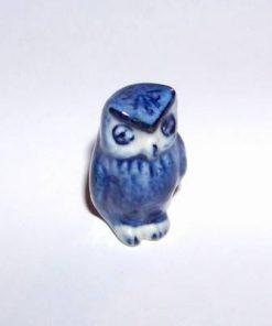 Bufnita din ceramica albastra