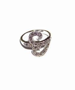 Inel cu simbolul Tao / OM stilizat si marcasite