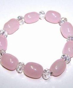 Bratara Feng Shui din cuart roz si cristale magice