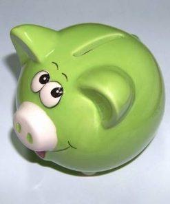 Porcusor din ceramica - verde