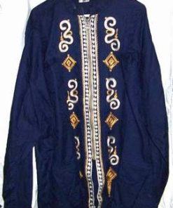 Bluza albastra din bumbac