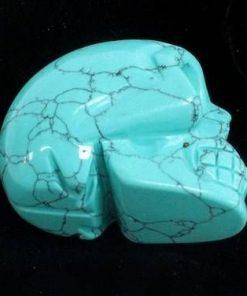 Craniu din cristal de turcoaz
