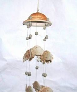 Clopotel de vant Feng Shui din ceramica - testoase