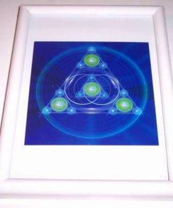 Mandala Feng Shui - Echilibru  - model unicat - rama aurie!!