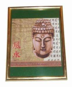 Tablou Feng Shui cu Buddha Tamaduitorul - verde