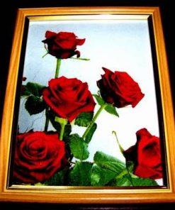Tablou Feng Shui cu 5 trandafiri - model unicat!