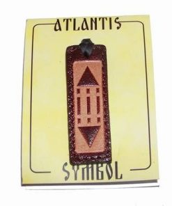 Pandantiv din piele cu simbolul Luxor / Atlantida -