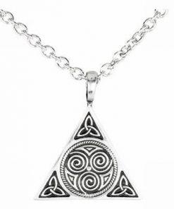 Talisman celtic cu cele 3 tipuri de noroc din metal nobil